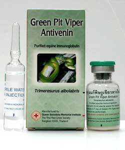 Anti Venin de Vipère Verte CROIX ROUGE CROISSANT ROUGE